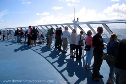 Approaching Santander aboard Pont-Aven