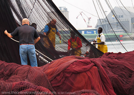 Fishing net loding
