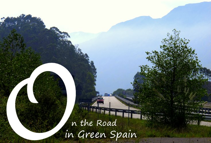 On the road in green Spain