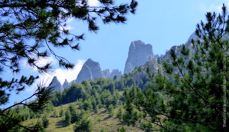 Les aiguilles de Bavella from the GR20, Corsica