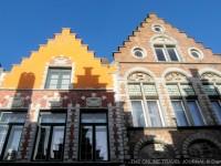 Street Houses Bruges Belgium