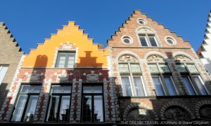 Stepped gables and attractive facades - street houses in Bruges