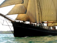 Tall ship Bessie Ellen under sail