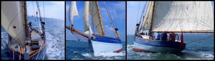 Annabel J under sail