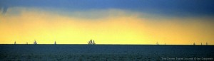 Sailing ships on the Ijsselmeer