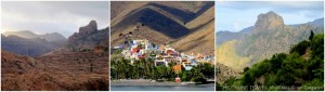 La Gomera landscape collage