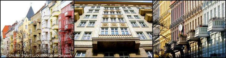 Berlin apartments - Friedrichshain - 1950's socialist neoclassical style buildings on Karl-Marx-Allee - Charlottenburg
