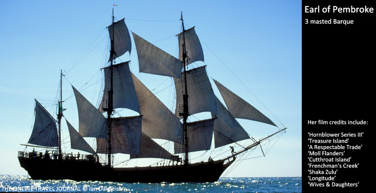 Three 3 masted Barque Earl of Pembroke