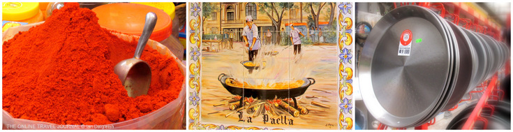 Spanish Paprika La Paella tiles and Paella pans