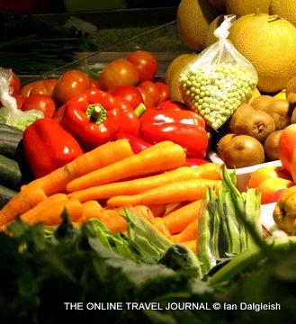Fresh Vegetables Mercado Municipal Faro Portugal