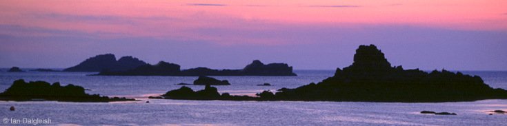 Hell Bay at dusk Isles of Scilly