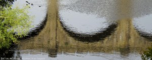 Reflection of Viaduct Knaresborough, Yorkshire