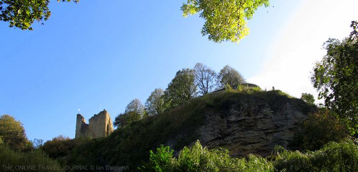 Knaresborough Castle from Nidd Gorge, Yorkshire, UK