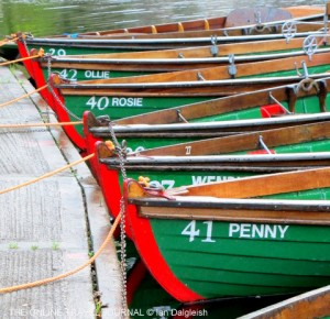 Row Boats for hire on the River Nidd, Knaresborough, Yorkshire