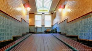 Victorian tiled  Passage, Midland Hotel, Bradford
