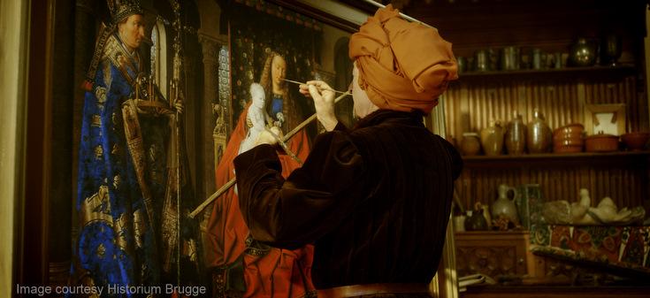 Van Eyck aan het werk-1 Image Courtesy Historium Brugge