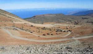 Looking back across caldera rim along north coast Tenerife