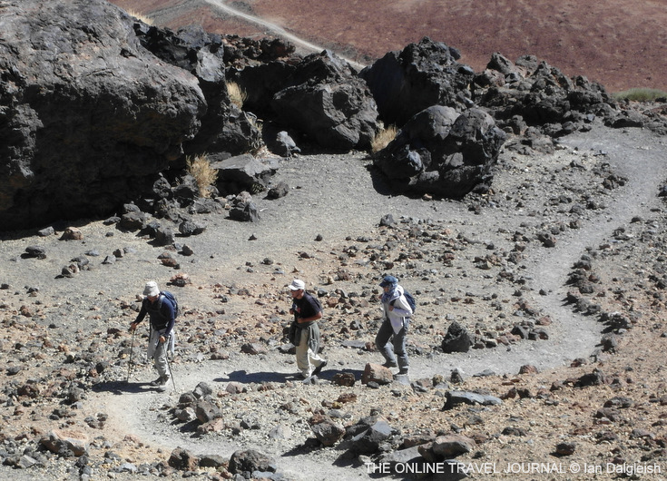 Zig-zagging up the trail on Teide_Tenerife