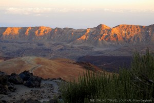 Last of sun catching caldera rim_Teide National Park_Tenerife