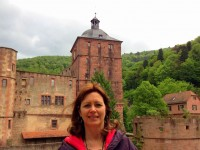 RhineCruiseHC_Heather at Heidleberg Castle