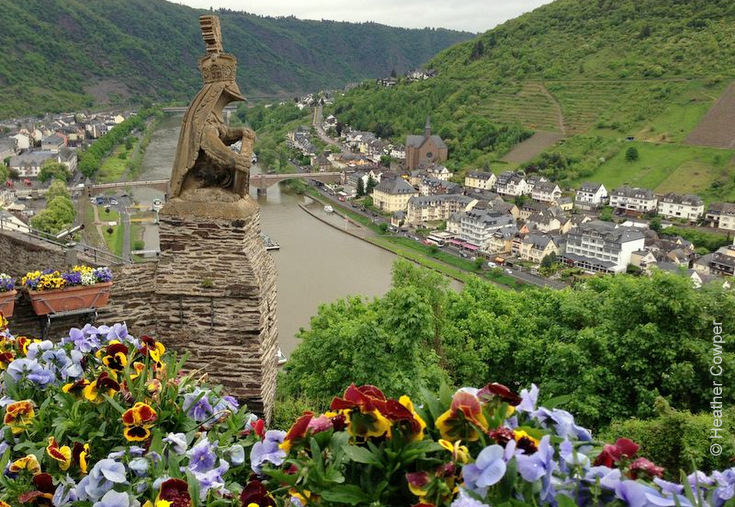 RhineCruiseHC_View of Mosel from Cochem Castle