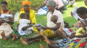 Women in class on hygiene_Rwanda © Lynne Potts