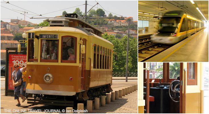 Heritage tram and metro train Porto, Portugal