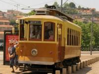 Vintage tram, Porto, Portugal