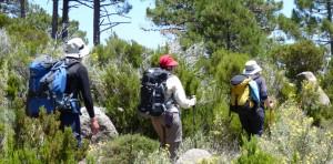 Carrying rucksacks GR20 Corsica