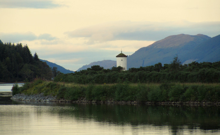 Pepperpot Lighthouse, Loch Lochy, Scotland