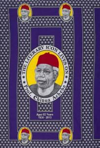 Cloth commemorating Chinua Achebe. Nigeria, c.2013. Courtesy of the British Museum